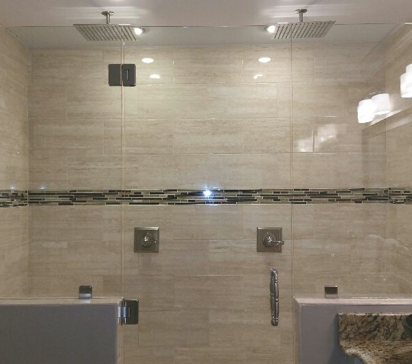 custom tile shower installation