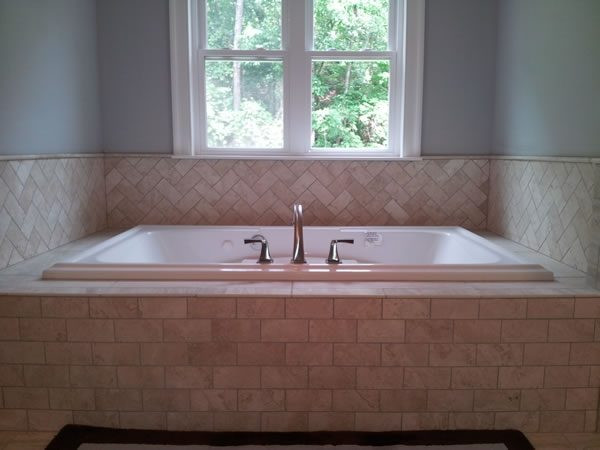 bathtub tile installation